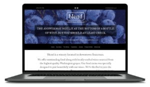Blend Bozeman Winery Website