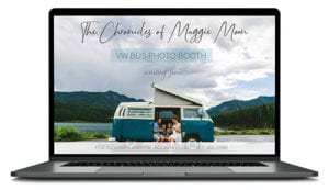 Chronicles of Maggie Moon website shown on computer