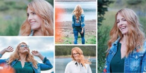 Collage of sunset portrait shoot