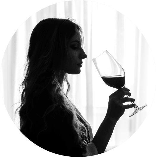 Woman enjoying Valo Washington Wine