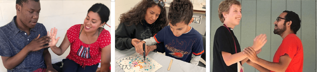 Teachers and students learning together at Bay Area Special Needs School
