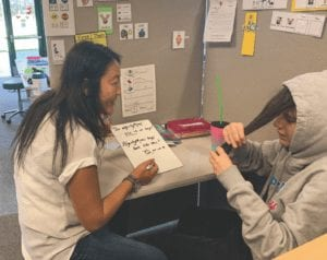 Special needs student consultation at the Morgan Center